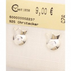 925 Ohrstecker Zirkonia 9mm...