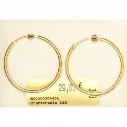 Drahtcreole 333 Gold 2,5 cm
